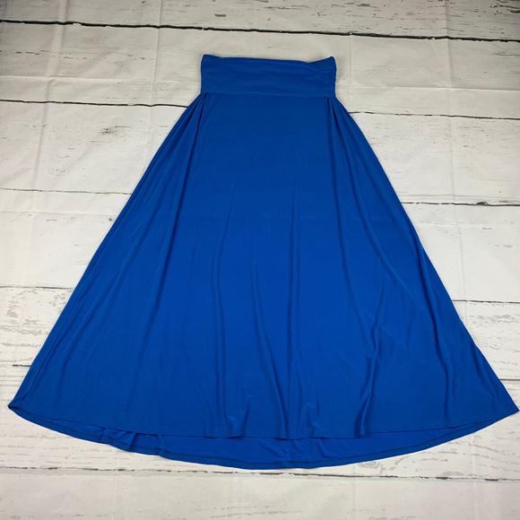 LuLaRoe Dresses & Skirts - LuLaRoe yoga waistband A-line long maxi skirt V35